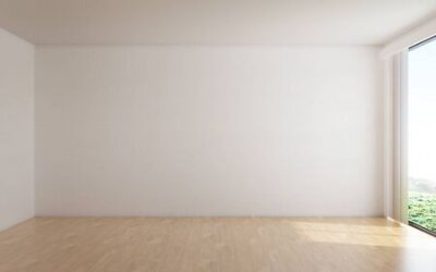 Plakat The interior design of empty room and white wall background