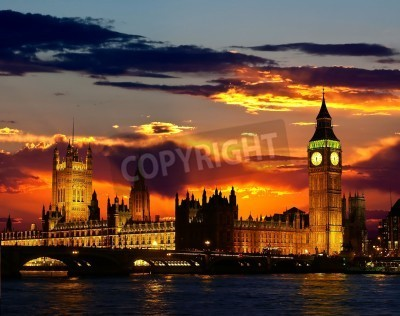 Plakat The Parliament Building - Big Ben, London