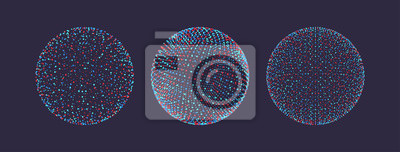 Plakat The sphere consisting of points. 3d futuristic technology style. Vector illustration.