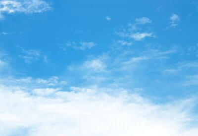 Plakat The vast sky and the beautiful white clouds