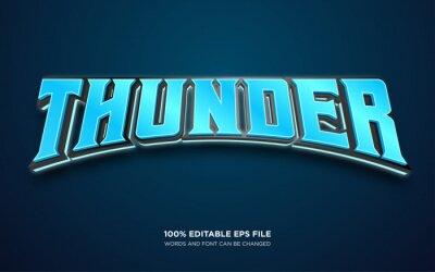 Plakat Thunder editable text style effect