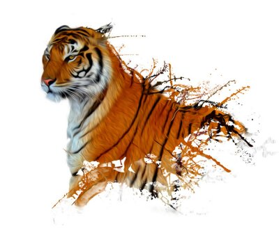 Plakat tiger powitalny
