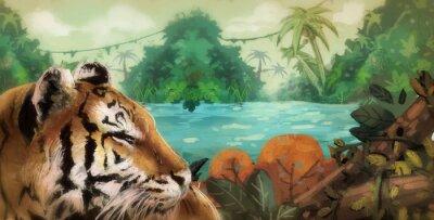 Plakat tigre en la Selva