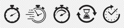 Plakat Timers icon set on transparent background. Stopwatch symbol. countdown Timer vector illustration