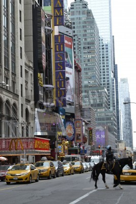 Plakat Times Square area during rush hour