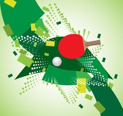 Plakat tła Tenis stołowy