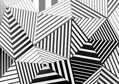 tło czarne i białe paski trójkątów