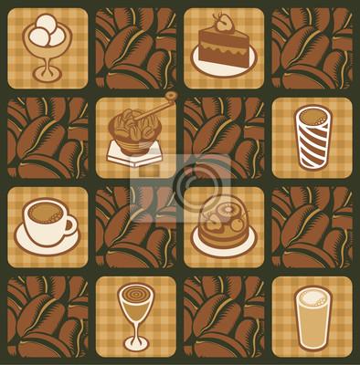 Plakat tło na temat ziaren kawy