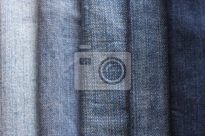 tło paski materiał denim w różnych odcieniach
