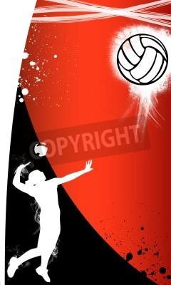Plakat Tło plakatu z miejsca do siatkówki, www, ulotki, magazyn
