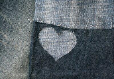 - tło różnych pasów tkanin dennych i dziur w sercu