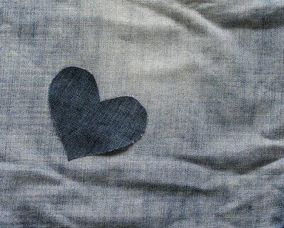 tło sam denim serca leży w zmarłych niebieski tkaniny