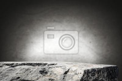 tło stołu rockowego i szare ciemne ściany