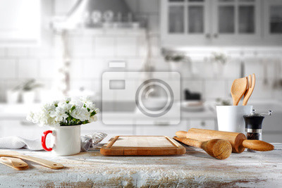 tło tabeli w kuchni