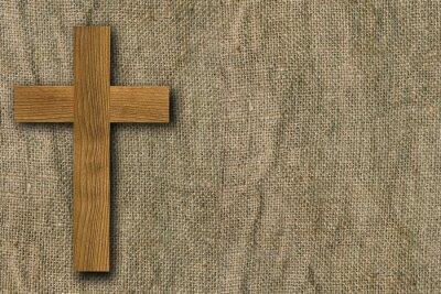 Plakat Tło wykonane z drewnianych desek i starych płótnie