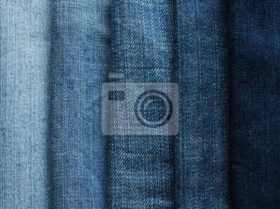 tło z paskami tkaniny niebieskie dżinsy w różnych odcieniach i jasności