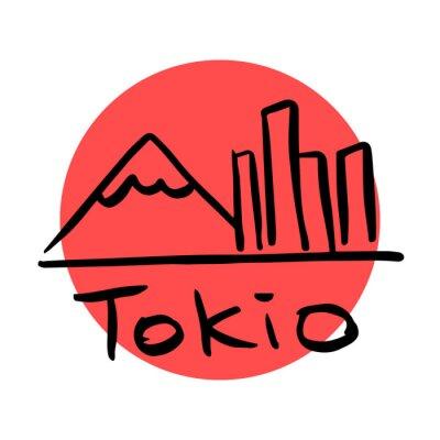 Plakat Tokio stolicą Japonii