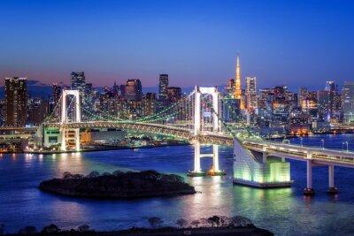 Plakat Tokyo Rainbow Bridge und Tokyo Tower