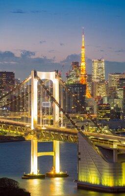Plakat Tokyo Tower Rainbow Bridge