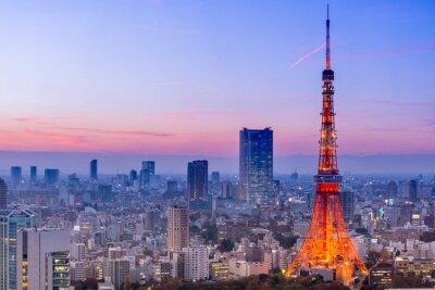 Plakat Tokyo Tower, Tokio, Japonia