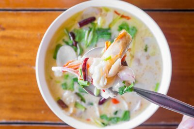 Plakat Tom Kha Talay (Thai Seafood Coconut Soup)
