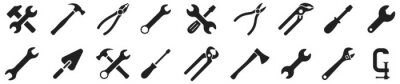 Plakat Tools icons set. Instruments signs collection. Tool simple icon. Vector illustration