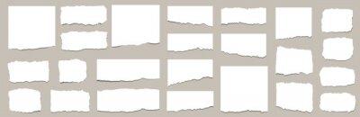 Plakat Torn sheets of paper. Torn paper strips set. Vector illustration