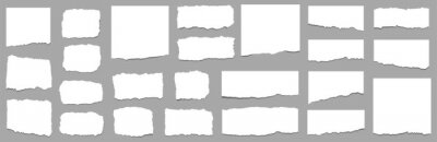 Plakat Torn sheets of paper. Torn paper strips. Vector