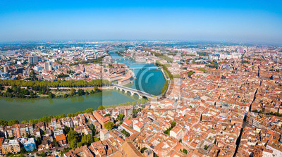 Plakat Toulouse aerial panoramic view, France