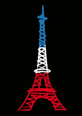 Plakat Tour Eiffel_Bleu Blanc Rouge