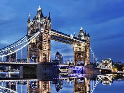 Plakat Tower Bridge in London, England, UK