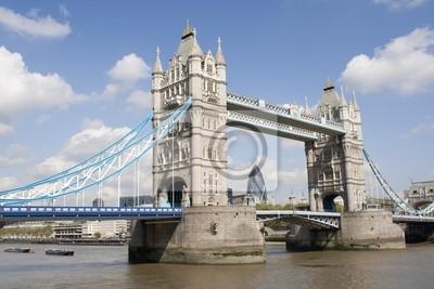 Plakat Tower Bridge w Londynie
