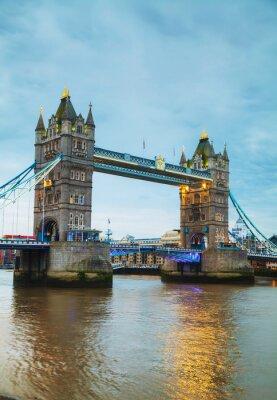 Plakat Tower Bridge w Londynie, Wielka Brytania