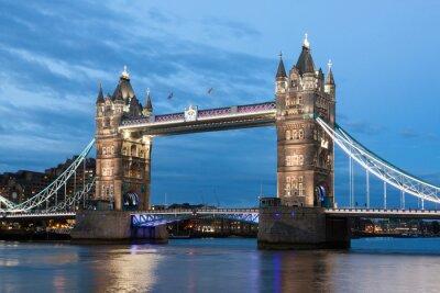 Plakat Tower Bridge w nocy, Londyn
