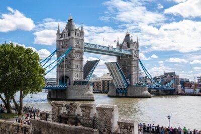 Plakat Tower Bridge z Tower of London, UK