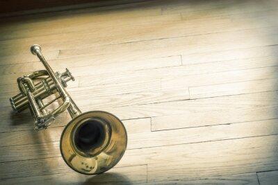 Plakat Trąbka Drewniane Podłogi