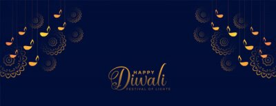 Plakat traditional decorative happy diwali festival banner design