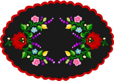 Plakat traditional Hungarian embroidery pattern 1