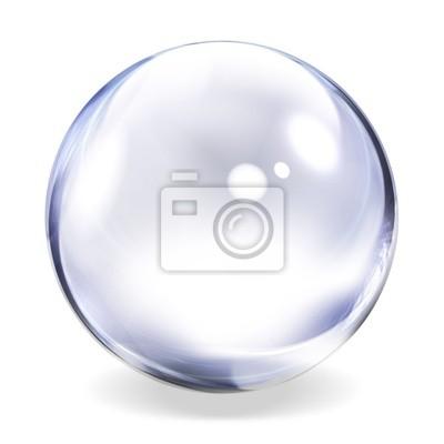 Plakat Transparent Glass Sphere