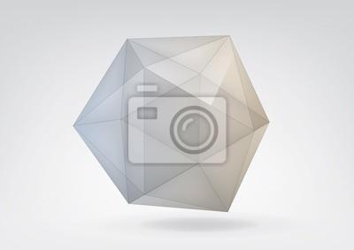 Transparent icosahedron