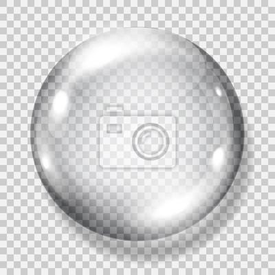Plakat Transparent szara sfera. Przejrzystość tylko w pliku wektorowego