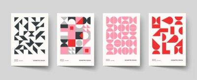 Plakat Trendy covers design. Minimal geometric shapes compositions. Applicable for brochures, posters, covers and banners.