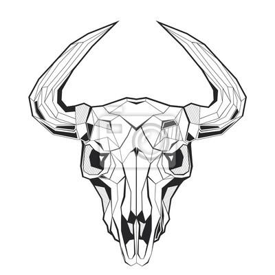 Trójkąt model trójkątny czaszki byka