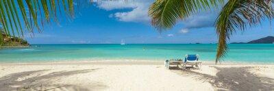 Plakat Tropical biały piasek plaży