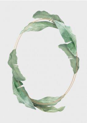Plakat Tropical leaves frame