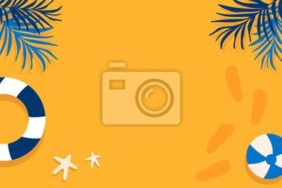 Plakat Tropical summer design