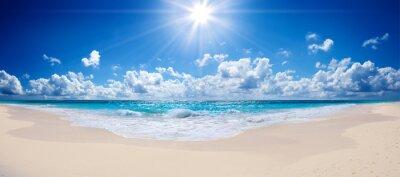 Plakat tropikalna plaża i morze - krajobraz