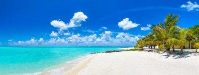 Plakat Tropikalna plaża na Malediwach