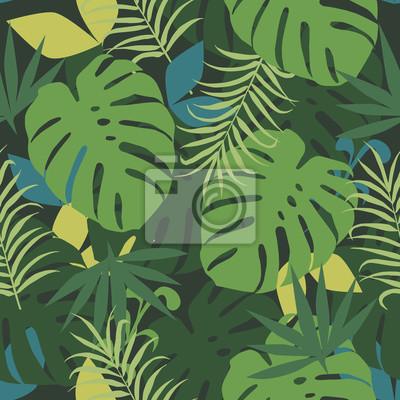 Tropikalny tło Wektor bez szwu deseń