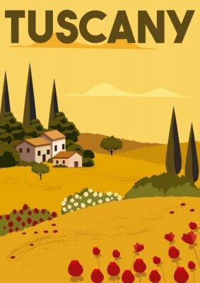 Plakat Tuscany Vector Illustration Background